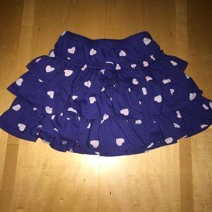 👧🏼Mini Boden Ruffle Tiered Heart Polka Dot Skirt
